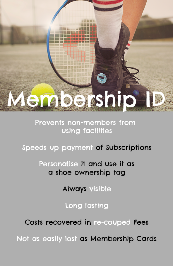 Membership ID - SHoeTags String Dampeners Racket Bands
